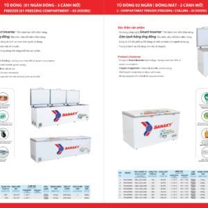 Các model tủ đông Sanaky 1 ngăn đông 2 cánh mở