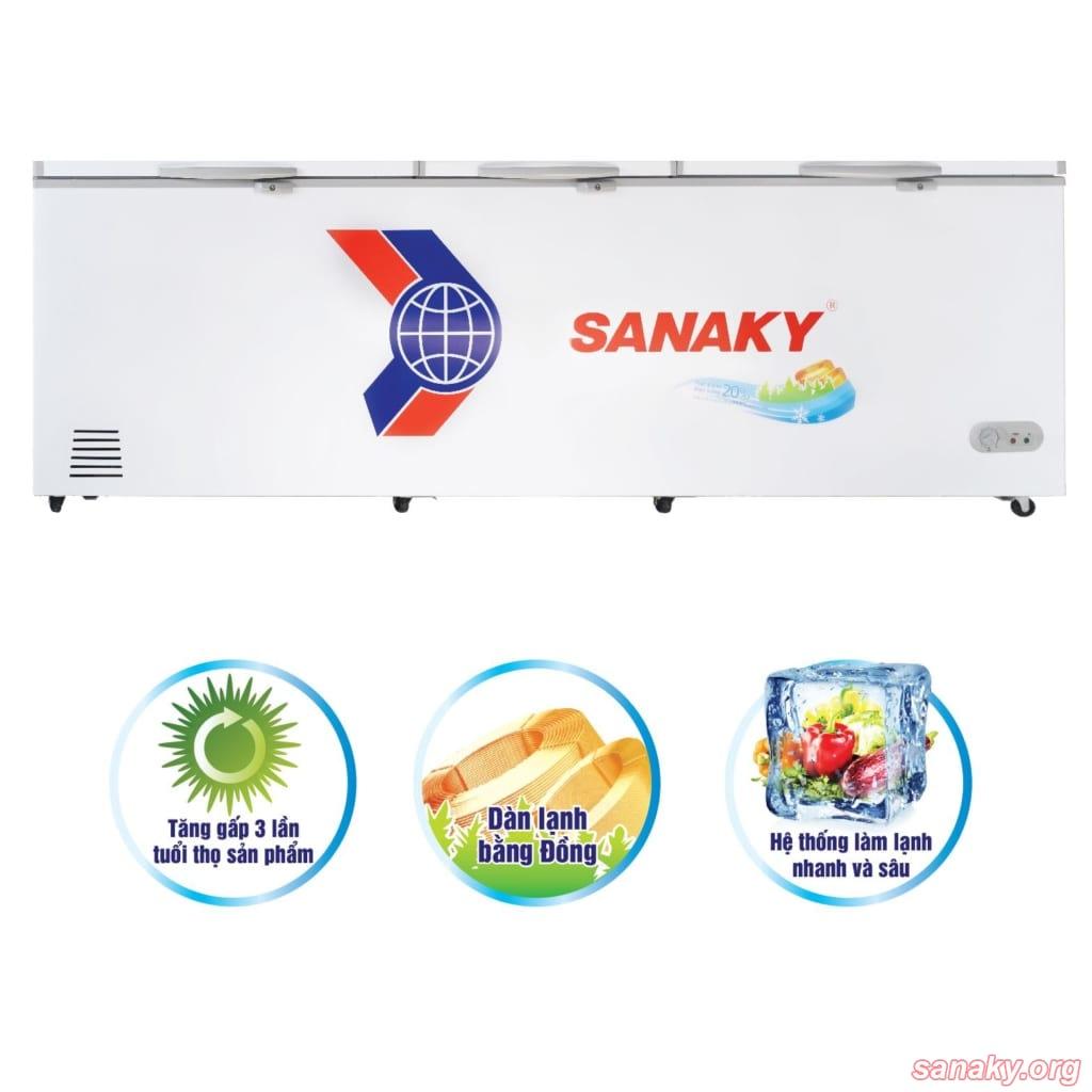 Tủ đông Sanaky 1 ngăn 3 cánh