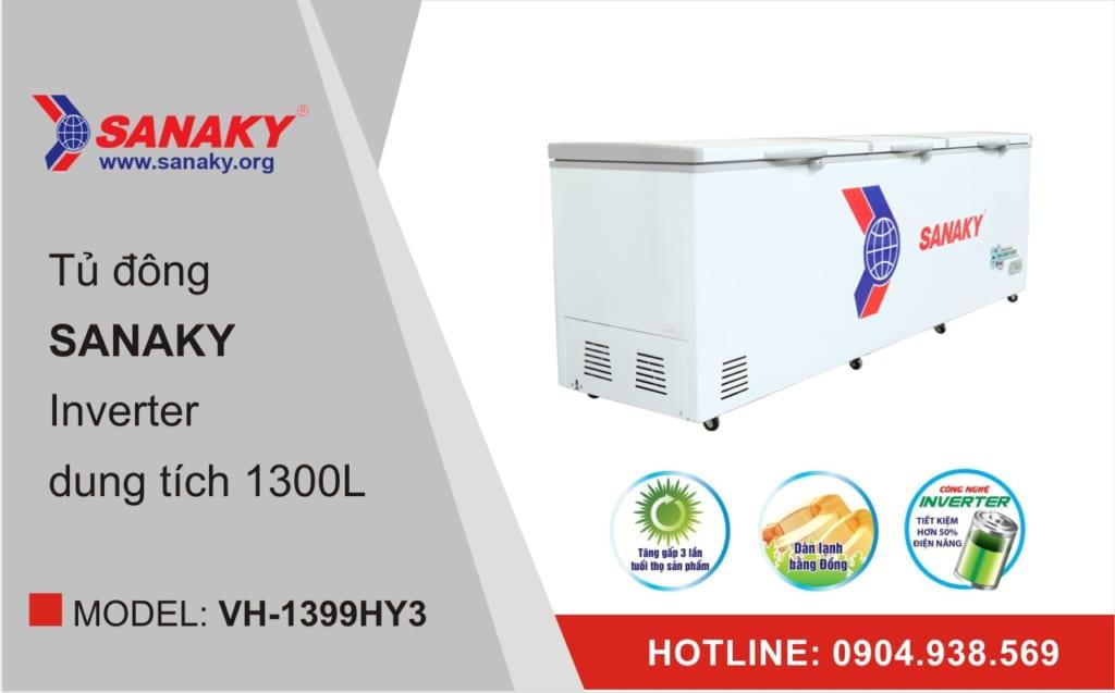 Tủ đông Sanaky Inverter VH-1399HY3