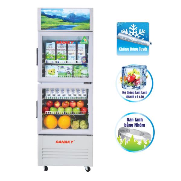 Tủ mát siêu thị thương hiệu Sanaky loại 2 cánh