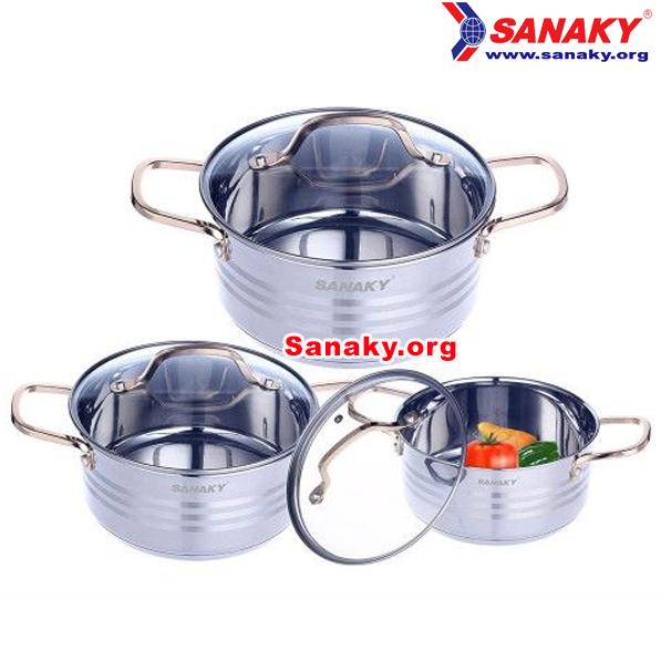 Bộ nồi Inox Sanaky SNK-312N