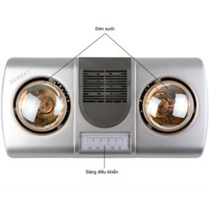 Thông số kỹ thuật của Đèn sưởi nhà tắm SANAKY SNK2BW