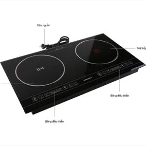 Mo tả chức năng Bếp điện từ và hồng ngoại Sanaky SNK-21W
