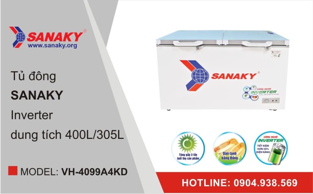 Tủ đông Sanaky Inverter VH-4099A4KD