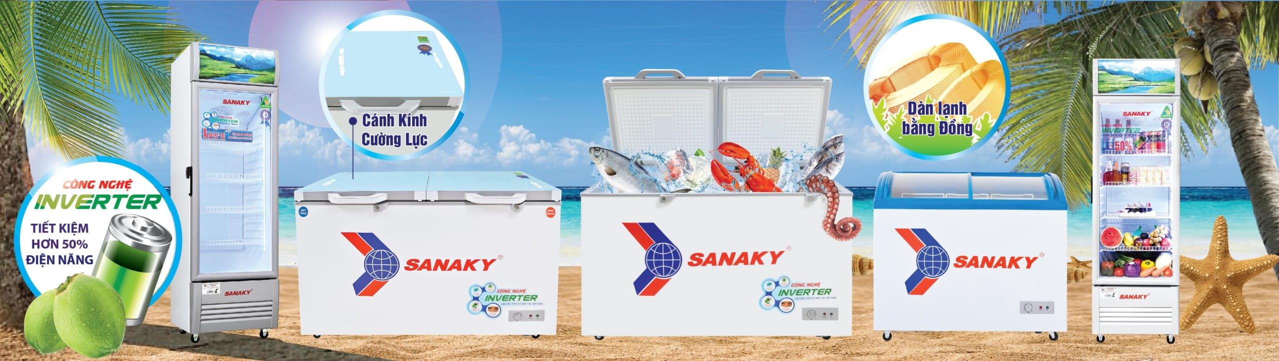 Banner tủ đông tủ mát Sanaky