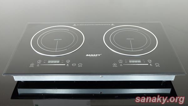 Bếp Đôi Điện Từ - Hồng Ngoại Sanaky SNK-IHW40A có 2 vùng nấu tiện dụng